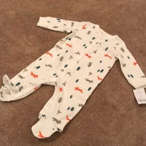 Carters fox waffle footie pajamas